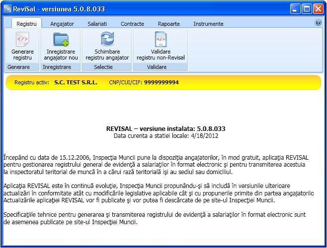 Inspectoratul Teritorial de Munca SUCEAVA - Registrul